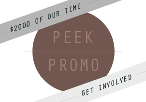 Peek studio promotion
